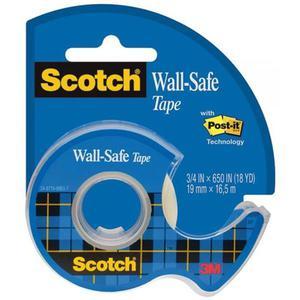 Taśma biurowa SCOTCH Wall-Safe na podajniku 19mm x 16,5m transparentna - 2891742873