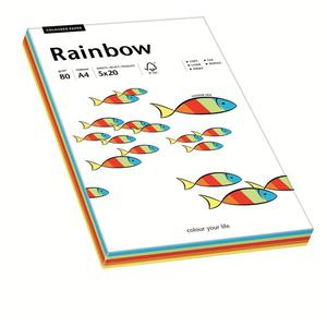 Papier xero A4 kolor RAINBOW - mix kolor intensyw - 2825403101