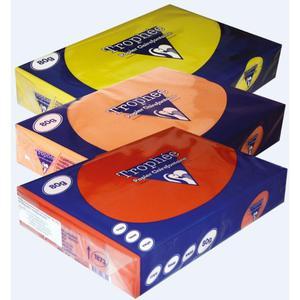 Papier xero A4 kolor TROPHEE int. - pomarańcz - 2825403124