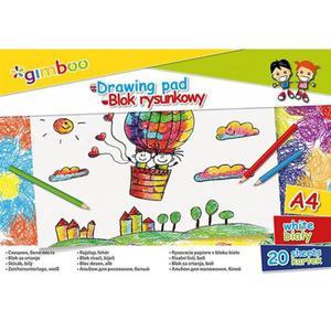 Blok rysunkowy GIMBOO A4 20 kart. 70gsm biały - 2891744299
