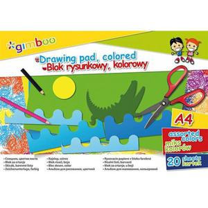 Blok rysunkowy GIMBOO A4 20 kart. 70gsm mix kolorów - 2891744300