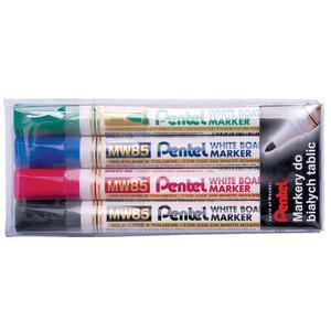 Marker PENTEL suchościeralny MW85W kpl.4szt. - 2825398414