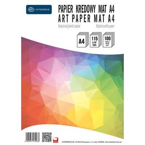 Papier kredowy INTERDRUK A4 mat 115g. - 2825404083