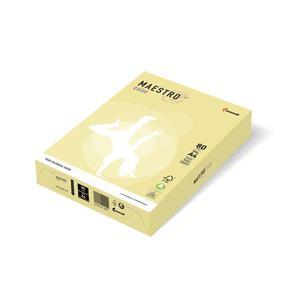 Papier xero A4 kolor Maestro Pastel - żółty YE23 - 2825399589