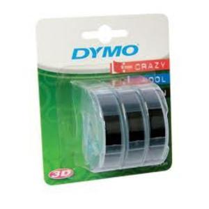 Taśma DYMO 3D 9mm x 3m 3 rolki - czarna - 2825404234