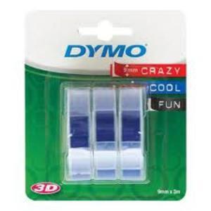 Taśma DYMO 3D 9mm x 3m 3 rolki - niebieska - 2825404235