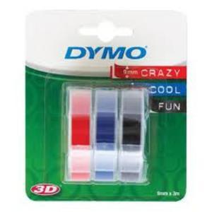 Taśma DYMO 3D 9mm x 3m 3 rolki - mix - 2825404236