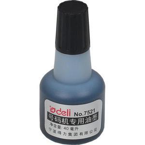 Tusz do stempli DELI 40ml 7521 olejowy - czarny - 2825405355