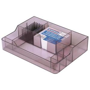 Przybornik na biurko DONAU duży - dymny - 2825399767