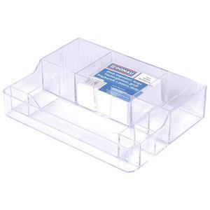 Przybornik na biurko DONAU duży - przeźroczysty - 2825399771