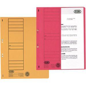 Skoroszyt ELBA kartonowy oczko A4 - czerwony - 2825399959
