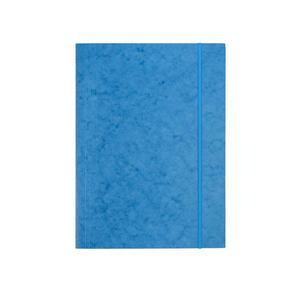 Teczka z gumką A4 DATURA presz.prosta - niebieska - 2825406132