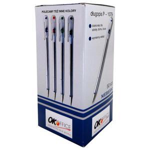 Długopis OK-OFFICE P1079 op.50 - niebieski - 2825406194