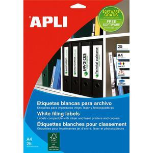Etykiety do seg. APLI 38x190mm - białe AP1232 - 2825406712