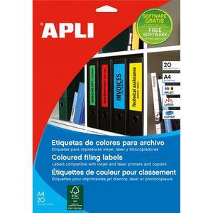 Etykiety do seg. APLI 61x190mm - czerwone AP1376 - 2825406716