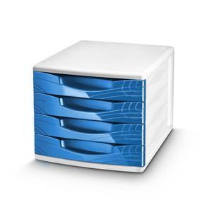 Pojemnik z 4 szufladami CEP Origins - niebieski - 2825406848