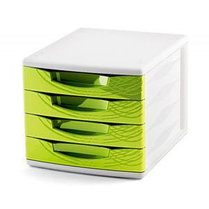 Pojemnik z 4 szufladami CEP Origins - zielony - 2825406850