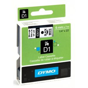 Taśma do drukarki DYMO D1 12x7m biało/czarna 45021 - 2825401022