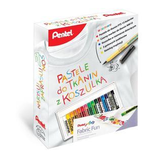 Zestaw PENTEL pastele do tkanin z koszulką + pióro - 2847290794