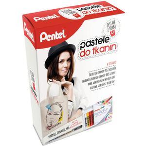 Kredki PENTEL pastele do tkanin zestaw z torbą - 2847290795