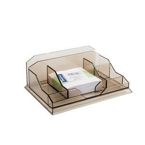 Przybornik na biurko DATURA - dymny - 2847291065