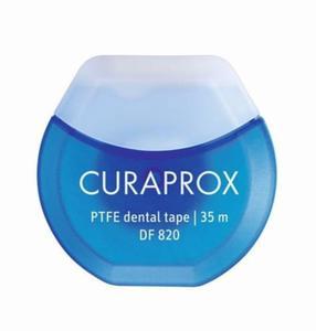 CURAPROX DF 820 PTFE dental Tape - teflonowa, miętowa taśma dentystyczna nasączona chlorheksydyną 35m - 2881923067