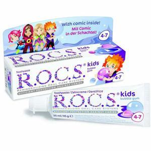 Pasta do zębów ROCS Kids Bubble gum o smaku gumy - 2877470648