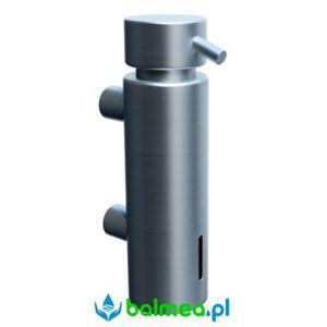 Dozownik mydła w płynie MERIDA mocowany do ściany poj. 300 ml - mosiądz chromowany matowy - 2838466796
