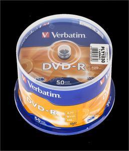 DVD-R VERBATIM 4,7GB 16X CAKE-50szt. - 2837780223
