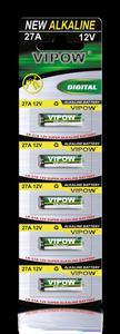 Baterie alkaliczne VIPOW LR27A 5szt/bl. - 2837780308