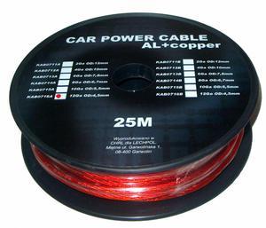Kabel samochodowy 12Ga OD4.5mm CU+AL 25m - 2837781122