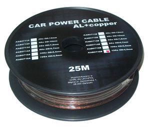Kabel samochodowy 12Ga OD4.5mm CU+AL 25m - 2837781123