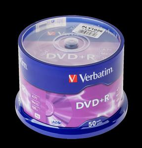 DVD+R x16 VERBATIM 4,7GB CAKE 50szt - 2837781193