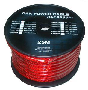 Kabel samochodowy 6Ga OD8mm CU+AL 25m - 2837781349