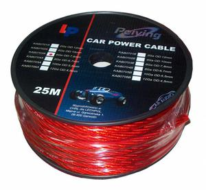 Kabel samochodowy 4Ga OD10mm CU 25m - 2837781435
