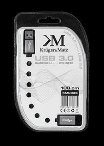 Kabel USB3.0 wtyk - gniazdo 1m Kruger&Matz płaski kabel - 2837783015