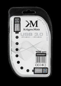 Kabel USB3.0 wtyk - wtyk 1m Kruger&Matz płaski kabel - 2837783016