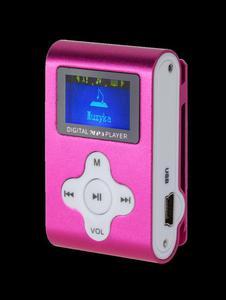 Odtwarzacz MP3 z wyświetlaczem Quer (różowy) - 2837783223