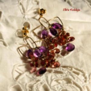 Złota Kolekcja-Różowe turmaliny w złocie - 2832991952