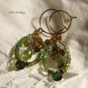 Złota Kolekcja - Zielone turmaliny w złocie - 2832991950