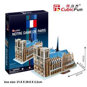 PUZZLE 3D Katedra Notre Dame - 2825168376