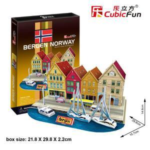 Port W Bergen PUZZLE 3D - 2825169373