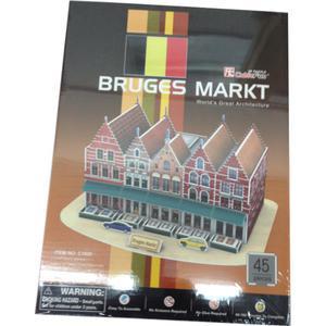 Rynek W Brugii PUZZLE 3D - 2825169375