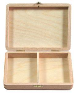 Drewniana kasetka na dwie talie kart - 2825172152