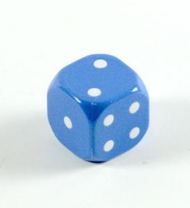 Kostka do gry plastik ekstra - niebieska - 1 szt. - Poznań, hiperszybka wysyłka od 5,99zł! - 2825161987
