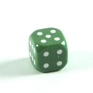 Kostka do gry plastik ekstra - zielona - 1 szt. - Poznań, hiperszybka wysyłka od 5,99zł! - 2825161989