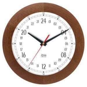 Zegar 24-godzinny drewniany solid #2 - 2822993575