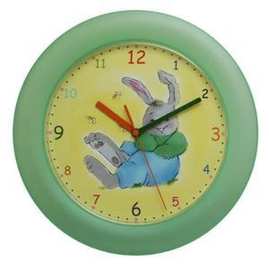 Zegar ścienny królik /zielony - 2822992736