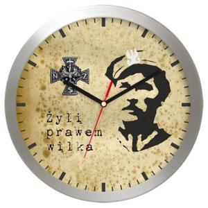 Zegar aluminiowy Żołnierze Wyklęci - 2822993683