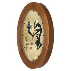 Zegar drewniany solid Zołnierze Niezłomni - 2822993684
